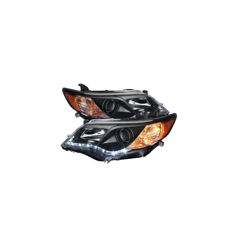 Spyder Auto (PRO YD TCAM12 DRL BK) Toyota Camry Black Projector Headlight with LED Daytime Running Light