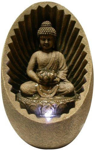 Alpine Buddha Tabletop Fountain with LED Light