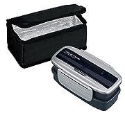 オーエスケー メタルモードタイト 2段 お弁当箱 保冷バッグ付 シルバー BLW-8HSI