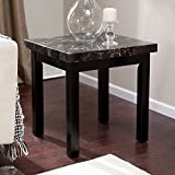 Galassia Faux Marble End Table