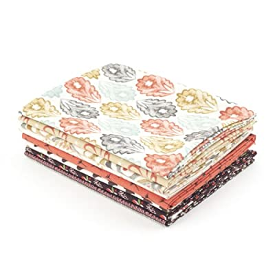 V&A Fabric - Beige Fat Quarter Bundle||EVAEX