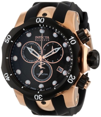 Invicta Men's 5733 Reserve Collection Rose Gold-Tone Chronograph Watch