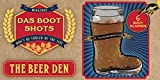 Home Essentials Beer Den S/6 2oz Boot Shot Glasses In Craft Gift Box