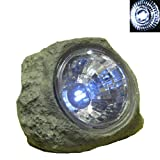 Outdoor Deco Solar Stone Rock Spot Light 3 LEDs