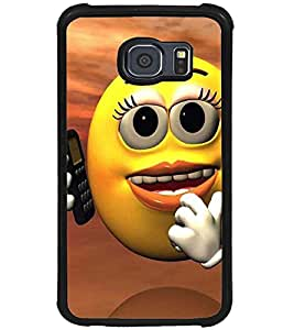 Printvisa Telephonic Smiley Back Case Cover for Samsung Galaxy S6::Samsung Galaxy S6 G920