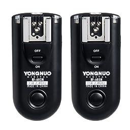 Yongnuo RF-603 N1 / Camera 2 Transceiver Set Flash Sync Trigger Trans Shutter Remote for Nikon Camera / Such as: Nikon D1H, D1X, D2, D2H, D2X, D3, D3X, D3, D1, D100, D200, D300, D700, D300S, F6, F5, F90, F90X, F100 etc Fujifilm S5 Pro, S3 Pro