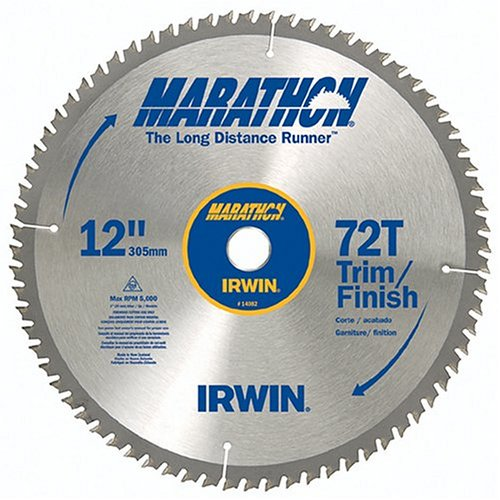 Irwin Industrial Tools 14082 12-Inch 72-Teeth 1-Inch Arbor Miter and Table Saw Blade