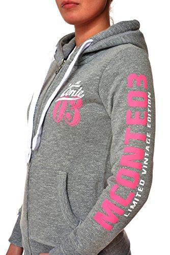 M.Conte Sweat-Shirt Sweater Rachel Donna Felpa con cappuccio Grigio Taglia S
