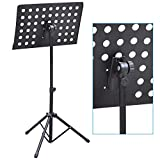 Popamazing Top Quality 65cm 140cm Orchestral Sheet Music Stand Holder Tripod Base Height Adjustable