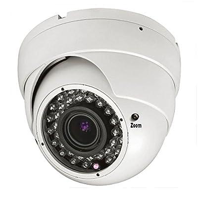 1000TVL 2.8-12mm Varifocal Vandal Proof Indoor Outdoor Dome IR Security Camera CCTV BNC Surveillance 960H White NTSC