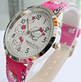 U-beauty Rose Hello Kitty Girls Ladys Wrist Quartz Watch Faux Leather