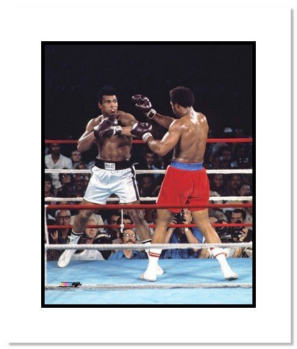 All About Autographs AAA-11559m Muhammad Ali Boxing Double Matted 8x10 Photograph vs George Foreman