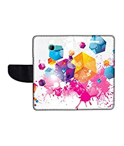 KolorEdge Printed Flip Cover For Asus Zenfone 4 Multicolor -(43KeMLogo12461Zen4)