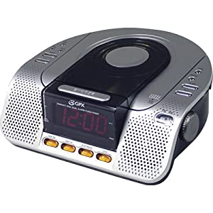 gpx crcd3805 dual alarm clock radio with cd player and am fm radio electronics. Black Bedroom Furniture Sets. Home Design Ideas