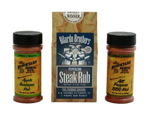 Gourmet BBQ & Steak Rub Combo