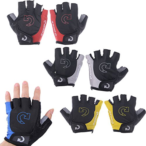 Masione New Outdoor Sports Cycling Bike Bicycle Half Finger Fingerless Gel Short Gloves