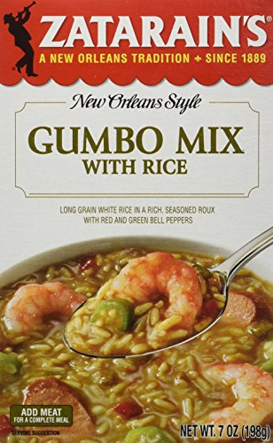 Zatarain's New Orleans Style Gumbo Mix with Rice, 7-Ounce Boxes (Pack of 12)