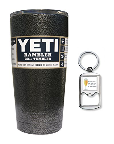 Yeti Coolers Custom Stainless Steel 20 oz Rambler Tumbler with Lid (Silver Vein)