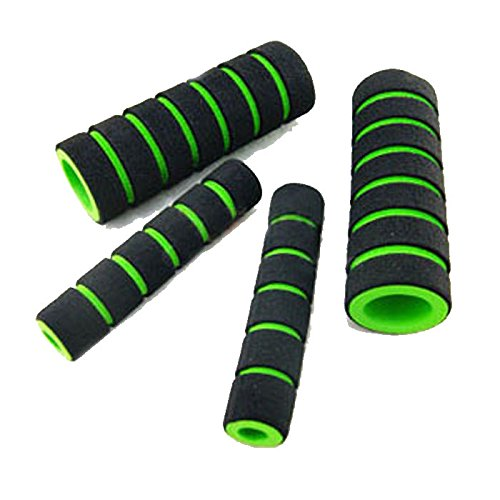 Bluesky Sponge Handlebar 2 Pair Universal Hand Grips For Motorcycle Electric Car (Green)