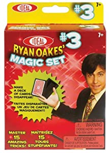 POOF-Slinky - Ideal Ryan Oakes 15-Trick Magic Set #3 with Disappearing Card Box and Number Mystery Card, 0C1153
