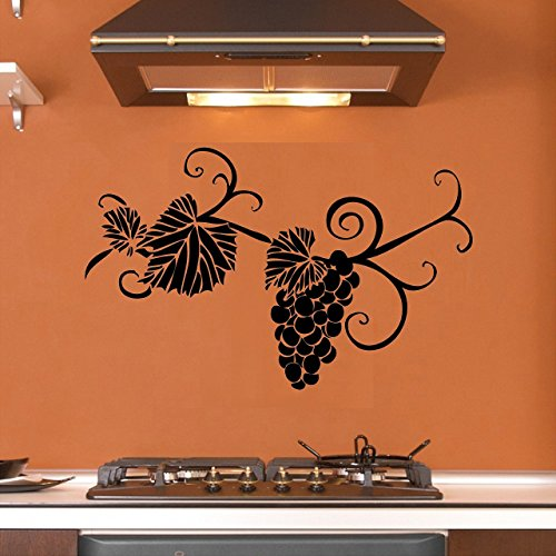 Grape Vines - Wall Decal, Vinyl Decor Sticker (Choose a Color) (Grape Kitchen Wall Stickers compare prices)