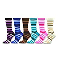 TeeHee Women's Value 6-Pack Crew Sock…