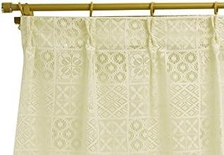 北欧風デザイン レースカーテン【Brooke ブルック】2枚組 100×108サイズ