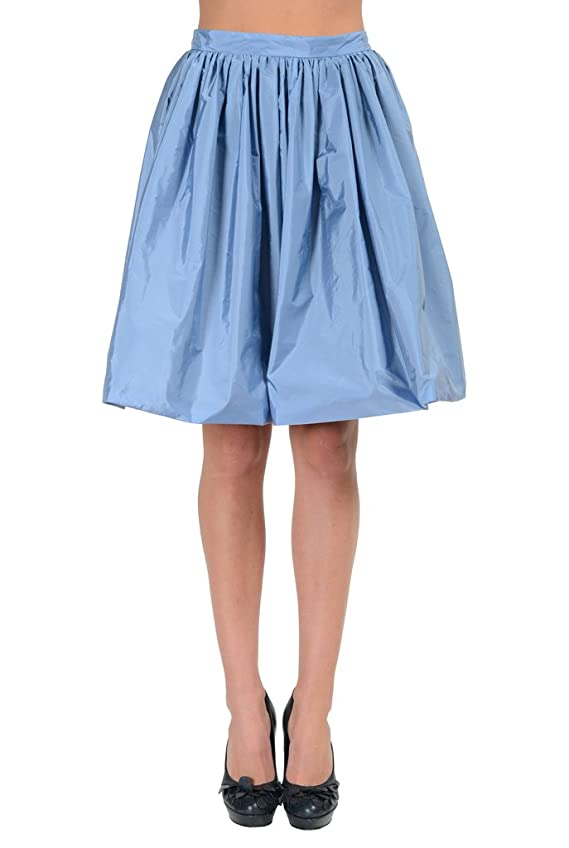 Moncler Gonna Light Blue Pleated A-Line Women's Skirt