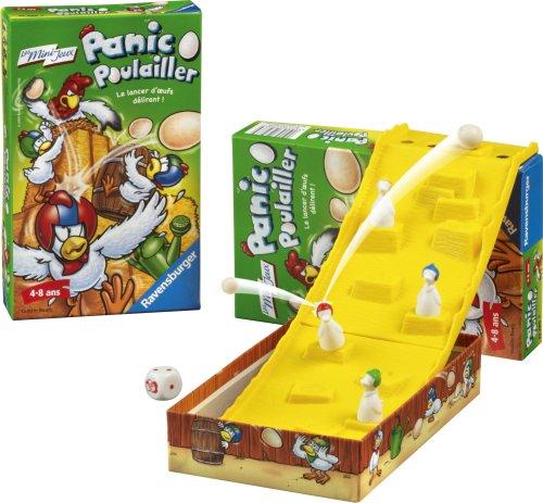 Ravensburger - 23286 - Jeu de société - Jeux de voyage - Panic o Poulailler - Mini Jeu