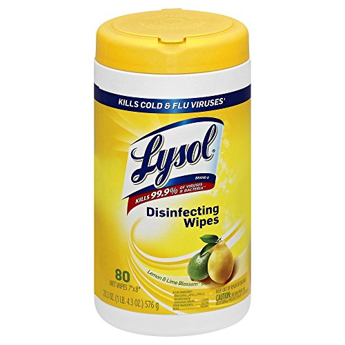 Lysol Disinfecting Wipes - Lemon & Lime Blossom Scent: 80 Count