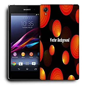 Snoogg Vector Background Printed Protective Phone Back Case Cover For Sony Xperia Z5