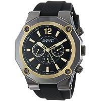 August Steiner Gold-Tone Silicone Strap Men's Watch