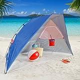 Rio Brands Rio Portable Beach Shelter, Black/Grey, Aluminum, 4L x 48W x 50H in.