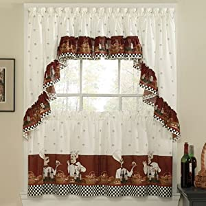 Savory Chefs Kitchen Curtains Tailored 30 Tiers Everything Else