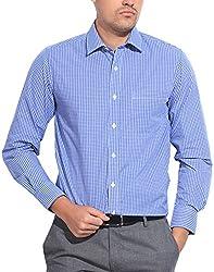 East West Men's Casual Shirt (Ew-Ts012, Blue, 40)