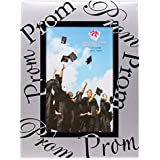 Two-Tone Silver Metal High School Prom 4x6 Photo Frame