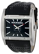 Rockwell Time Unisex AP102 Apostle Stainless Steel Case Black Leather Band Watch