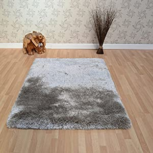 Plush Shaggy Rugs in Sand