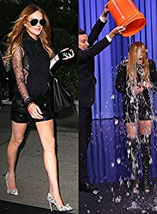 Lindsay Lohan Photo Fridge Magnet, ALS Ice Bucket Challenge.