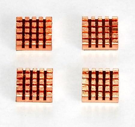 XBRdepot 1 Pack of 4 Premium Self-Stick Copper Heatsinks for XBOX 360 RAM ANA and Southbridge Cooling (4 individual PCS)