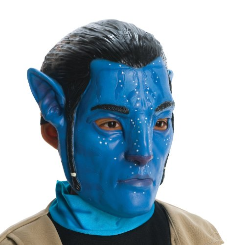 Avatar Jake Sully Adult 3/4 vinyl mask with Ears