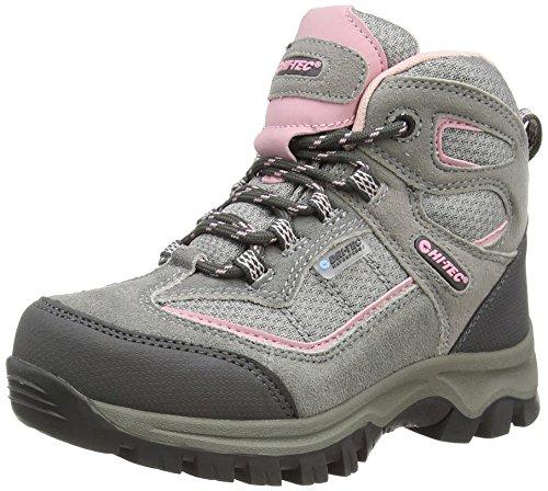 hi-tec-hillside-waterproof-junior-girls-scarpe-da-arrampicata-alta-bambina-grigio-grey-pink-051-38-e