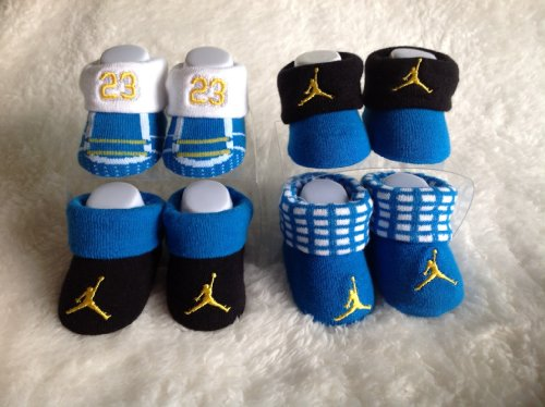 Nike Jordan Infant New Born Baby Booties 2 Pairs 0-6 Months