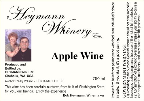 Nv Heymann Whinery Apple Wine 750 Ml