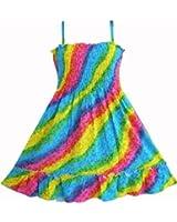 Sunny Fashion Robe Fille Arc-en- Smocks Licou