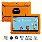 Contixo Kids LA703 7 Quad Core Android 4.4 Kitkat Multi-Touch Screen Tablet PC, HD Display 1024x600, 1GB RAM, 8GB Nand Flash, Dual Camera, WiFi, Kids Apps Pre-loaded, Google Play Pre-installed, 3D Game Supported (Orange)