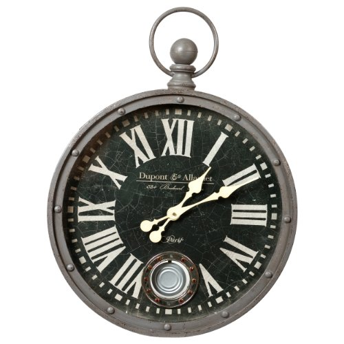 Wilco Imports Metal Wall Clock with Large Roman Numerals