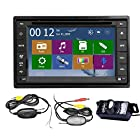 High Def Wireless Rear Camera+2015 New Model 6.2-Inch Double-2 DIN In Dash Car DVD Player Touch screen LCD Monitor with DVD/CD/MP3/MP4/USB/SD/AMFM/RDS Radio/Bluetooth/Stereo/Audio and GPS Navigation With HD:800*480 LCD+Windows Win 8 UI Design Free GPS Antenna+Free Official GPS Map+Free Wireless Backup Camera