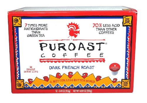 Puroast Low Acid Coffee French Roast Single Serve