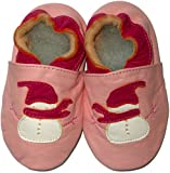 FAB4BABYSTARS Soft Leather Baby Shoes Christmas Snowman Size 6 12 months Elasticated Ankle